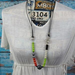 Colorful Round Bead Necklace